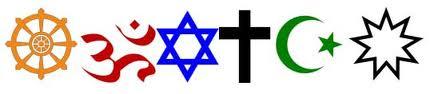 Interfaith symbols banner